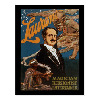 Actor del ilusionista del mago de Laurant Postal