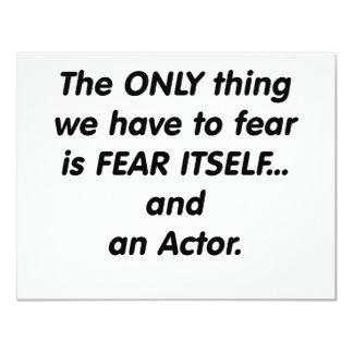 actor del miedo invitaciones personalizada
