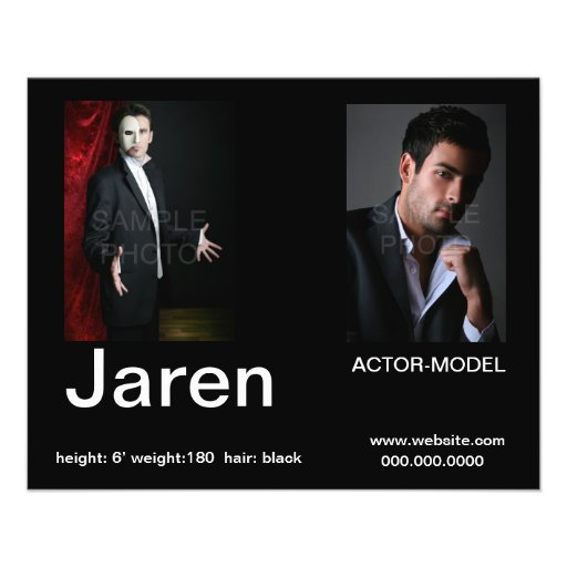 Actor Headshot Affordable Comp  Cards