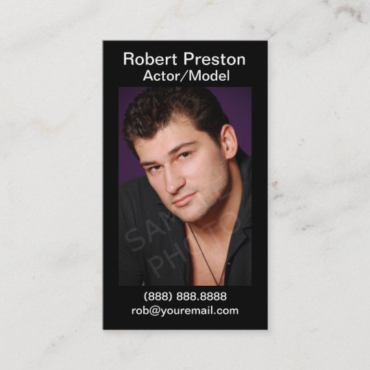 Actor headshot business cards zazzle actor headshot business cards colourmoves
