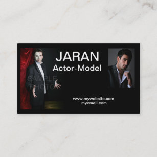 Actor business cards zazzle actor headshot business cards colourmoves