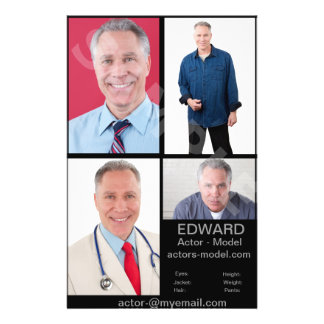 Actor Headshot Cards Full Color Flyer
