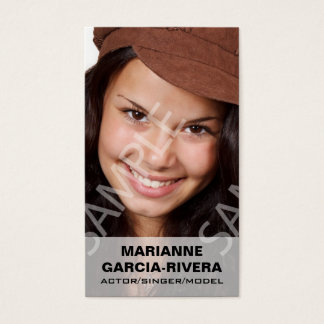 Actor Headshots White Transparent Panel Business Card