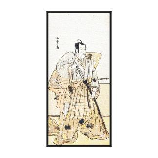 Actor Ichikawa Danjûrô as Tezuka no Tarô Gallery Wrap Canvas