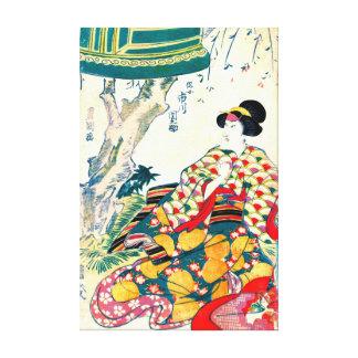 Actor Ichikawa Dannosuke 1809 Stretched Canvas Print