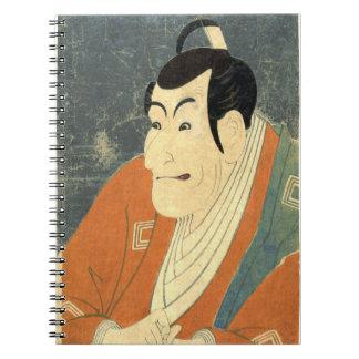Actor Ichikawa Ebizo 1794 Spiral Notebook