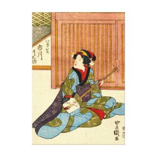 Actor Ichikawa Monnosuke 1818 Canvas Print