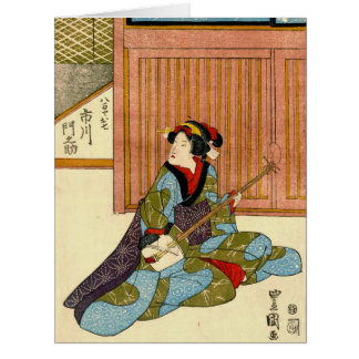 Actor Ichikawa Monnosuke 1818 Tarjetón