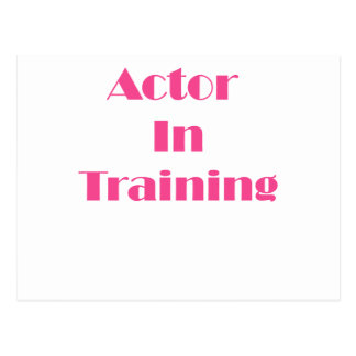 Actor in Training Postcard