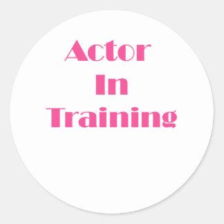 Actor in Training Classic Round Sticker