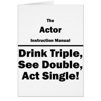 Actor Instruction Manual Card