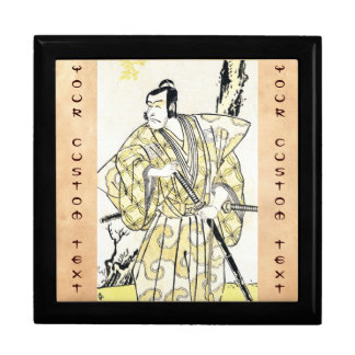 Actor japonés del vintage clásico como samurai Shu Caja De Joyas
