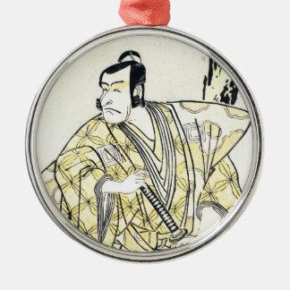 Actor japonés del vintage clásico como samurai Shu Adorno