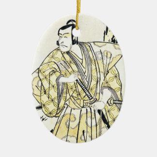 Actor japonés del vintage clásico como samurai Shu Ornamento De Reyes Magos