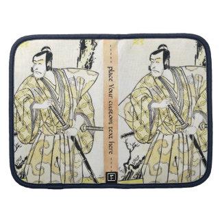 Actor japonés del vintage clásico como samurai Shu Organizador