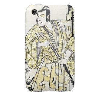 Actor japonés del vintage clásico como samurai Shu iPhone 3 Case-Mate Cárcasas