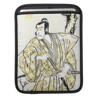 Actor japonés del vintage clásico como samurai Shu Fundas Para iPads
