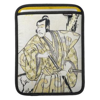 Actor japonés del vintage clásico como samurai Shu Funda Para iPads