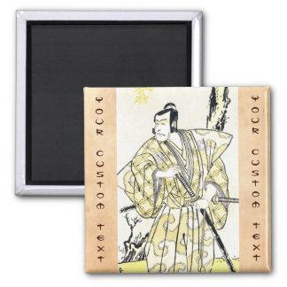 Actor japonés del vintage clásico como samurai Shu Imanes De Nevera