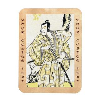 Actor japonés del vintage clásico como samurai Shu Imán De Vinilo