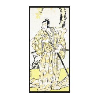 Actor japonés del vintage clásico como samurai Shu Lienzo Envuelto Para Galerías
