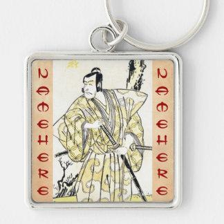 Actor japonés del vintage clásico como samurai Shu Llavero Personalizado