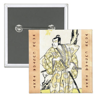 Actor japonés del vintage clásico como samurai Shu Pin