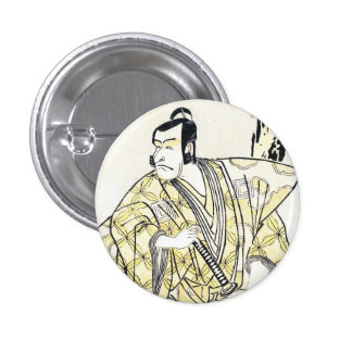 Actor japonés del vintage clásico como samurai Shu Pins