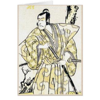 Actor japonés del vintage clásico como samurai Shu Tarjetas