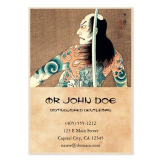 Actor japonés oriental fresco del espadachín del tarjetas de visita grandes