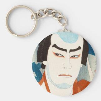 Actor Jitsukawa Enjaku como Danshichi Natori Shuns Llavero Redondo Tipo Pin