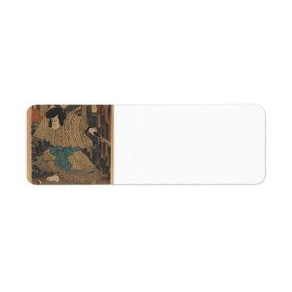 Actor Kawaharazaki Gonjuro by Utagawa Kunisada Return Address Labels