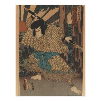 Actor Kawaharazaki Gonjuro de Utagawa Kunisada Tarjetas Postales