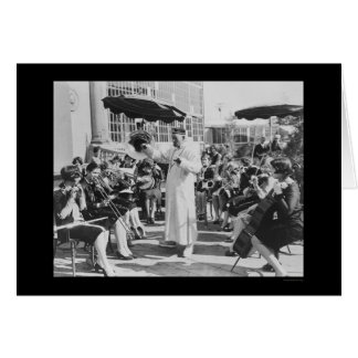 Actor Lon Chaney as Mr. Wu with Girls Band 1927 Greeting Cards