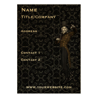 Actor Magician Chubby Damask Business Card