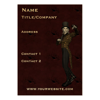 Actor Magician Dramatic Business Card Template