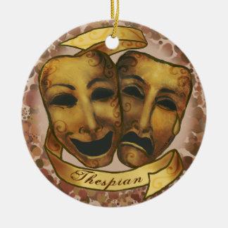 Actor Masks Ceramic Ornament