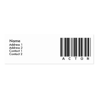 Actor Mini Business Card