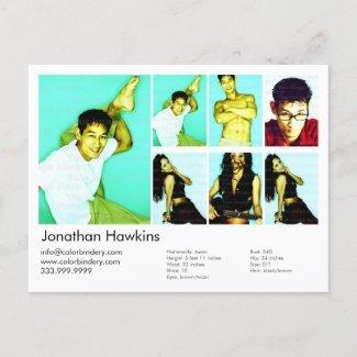 Actor/Model Headshot Card postcard