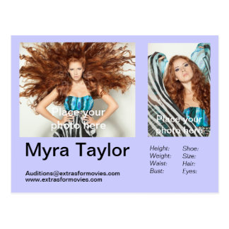 Actor Model Headshot Postcard