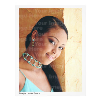 """Actor/Model Headshot With Resume Version 2 8.5"""" X 11"""" Flyer"""