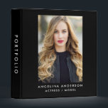 """Actor Model Portfolio Binder B<br><div class=""""desc"""">Actor Model Photo Portfolio Binder - Add clear binder inserts to add your acting photos. Pockets for zed cards / comp cards,  extra headshots to give out. Or use to organize audition scripts,  etc.</div>"""