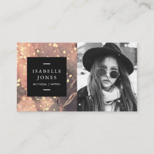 Actor Model Singer Marble Photo Business Card
