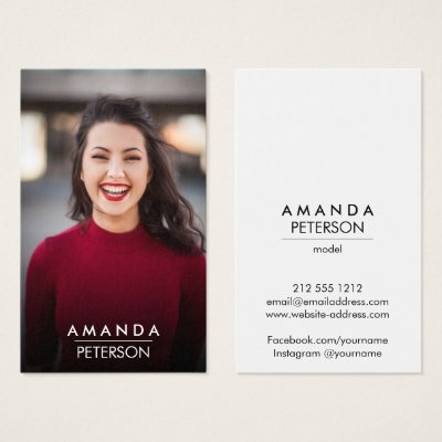 Actor Models Dancer Photo Social Media Icons Business Card Zazzle