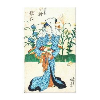 Actor Nakamura Karoku 1825 Stretched Canvas Prints