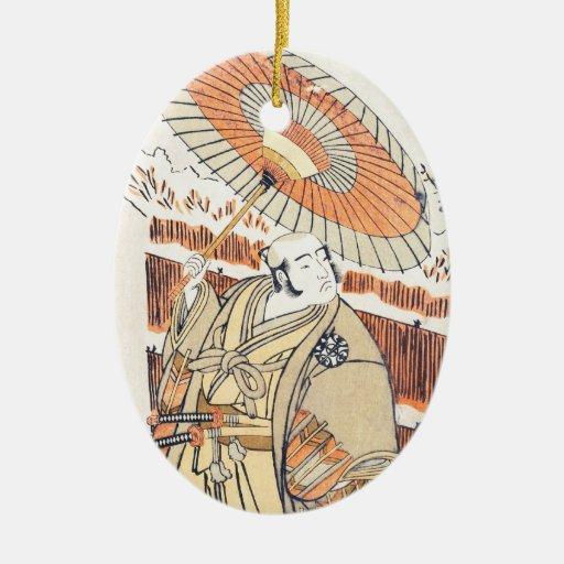 Actor Nakamura Katsugorô (o Denkurô IV) como Ornamento Para Reyes Magos