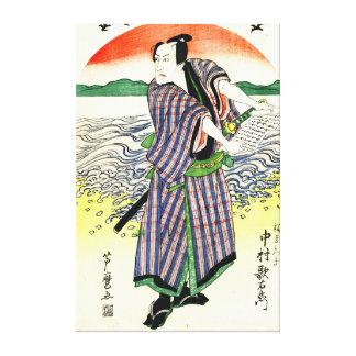 Actor Nakamura Utaemon 1813 Gallery Wrapped Canvas