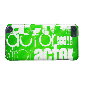 Actor; Neon Green Stripes iPod Touch (5th Generation) Cases