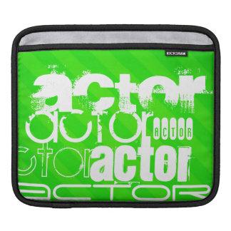 Actor; Neon Green Stripes iPad Sleeve