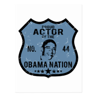 Actor Obama Nation Postcard